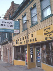 Hermie's in Schenectady where retail rules. Still there with the same sign out front. I'm pretty sure Hermie himself is no longer with us, however. I haven't set foot in the store since 1964 but it looks exactly the same- from the outside anyway..