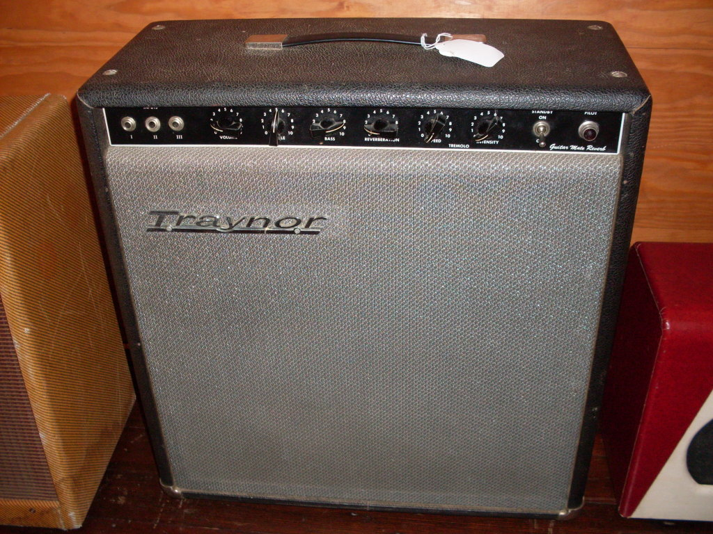 Best kept secret in vintage ampland. Traynors from the 60's and 70's are built like a tank and sound incredible. Back in the day, it was the starving musicians go to amp when a Fender Blackface was over budget. Still a bargain until everyone catches on. This puts out 20-25 watts from a pair of EL-84's running some serious voltage. Replaced volume pot but I have the original if you're nutty that way. $900