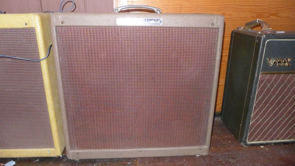 I'm told that brown Toles 5F6-A Bassmans exist but this isn't one of them. This is a very clean 59 that sounds just great. It has two 59 P10Rs that have been re-coned and two new Celestion Golds. This is a killer combination. This amp is totally gig worthy and ready to rock. This is one of the best sounding Bassmans I've ever had. $6000