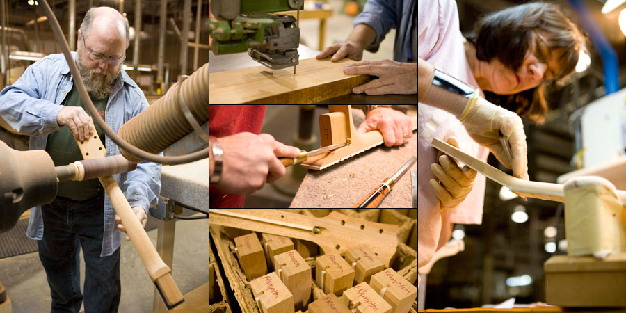 The main reason that the neck profiles are so variable is that they are shaped by hand. As you can see in this photo from the Gibson site, they still are (at least in the Custom shop)