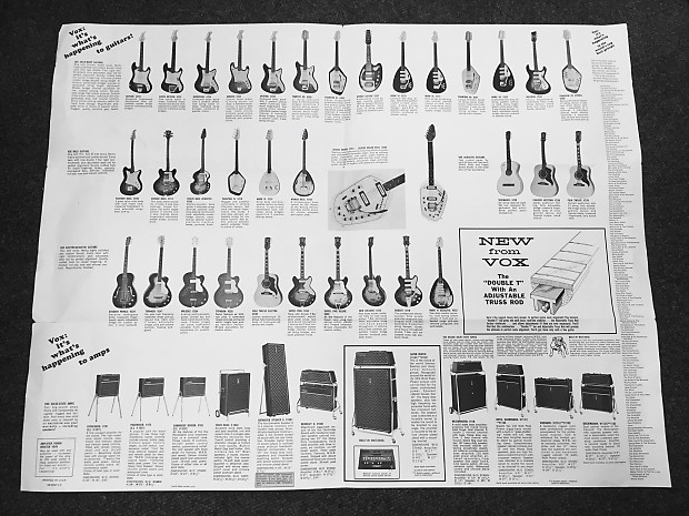 This might have been the coolest catalog of all. They made about a gazillion different guitars and even though they were never at the level of Gibson or Fender, they had the cool factor above everyone else.