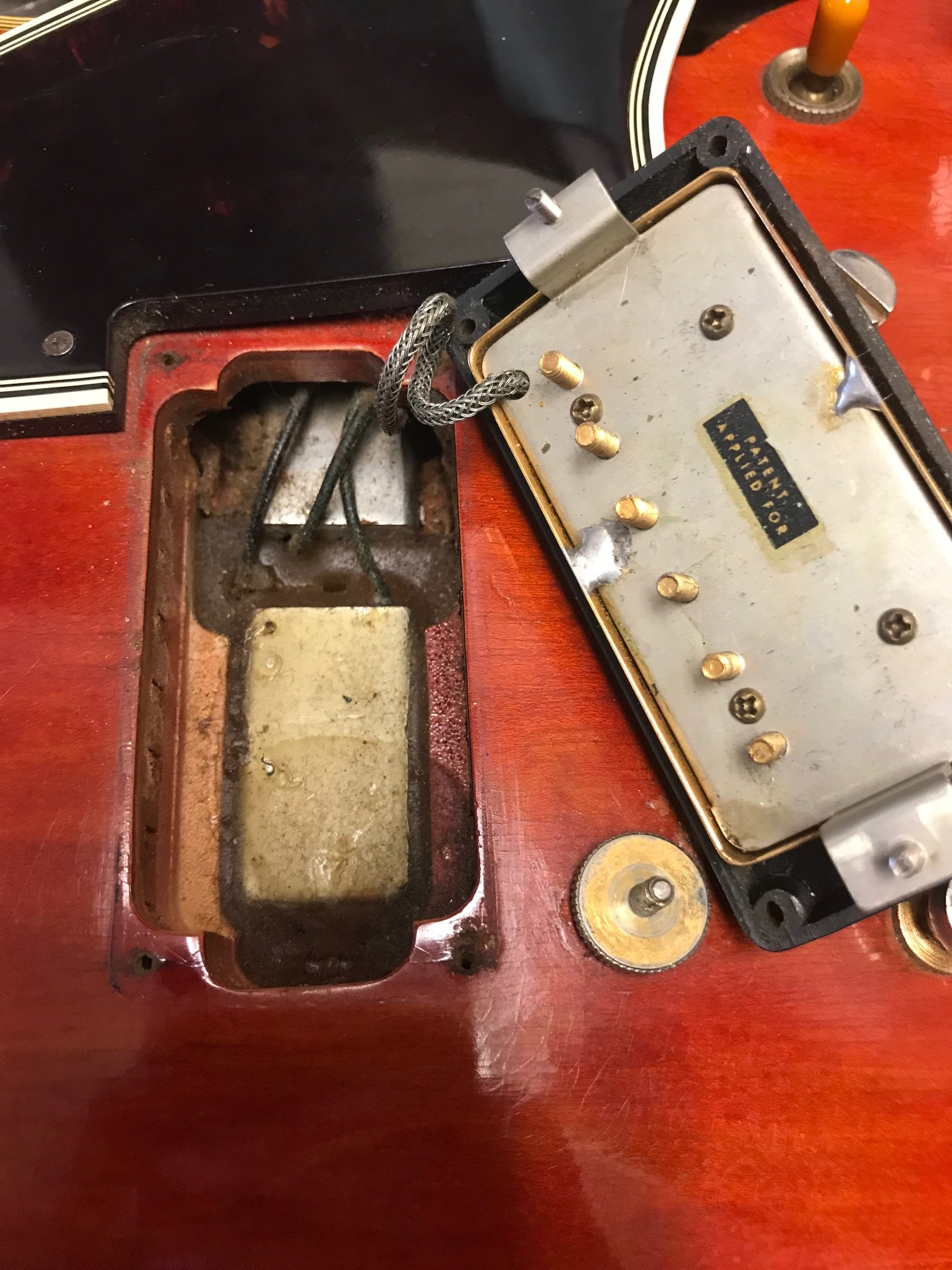 The Gibson Es 335 Wiring Diagram Pdf Like A First Rack 345 This 355 Has Choke Right Under Pickup Which Requires Short Leg Paf For Clearance On Side